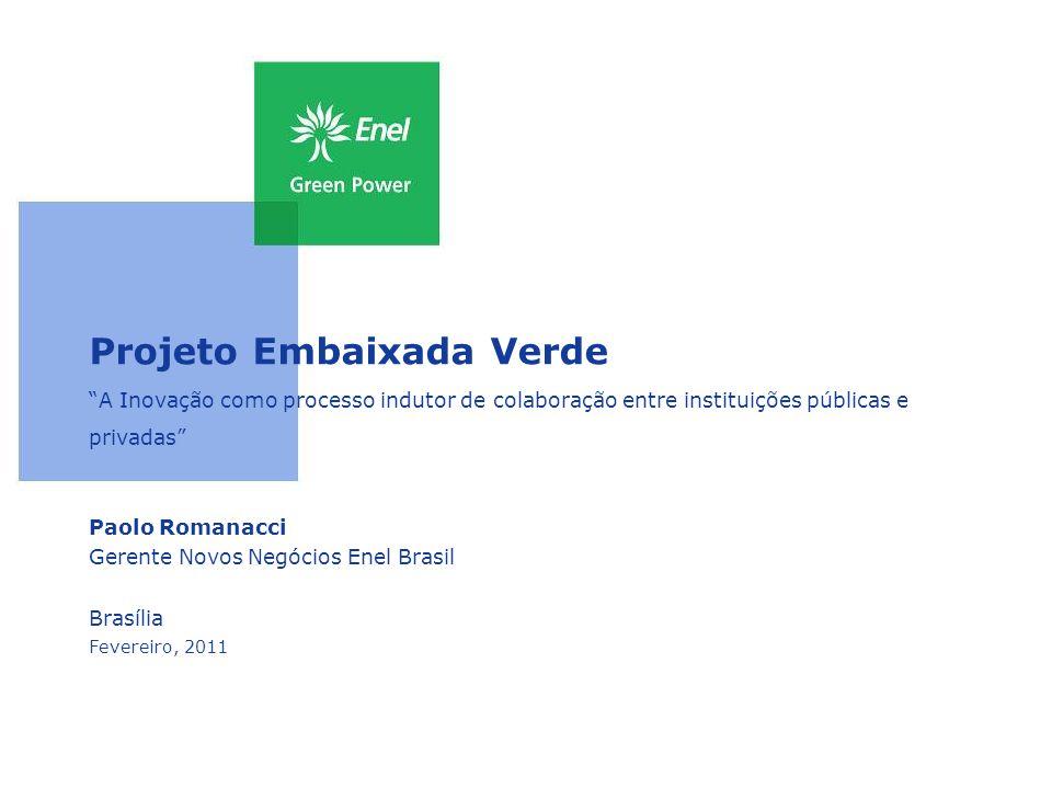 Projeto Embaixada Verde A Inovação como processo indutor de colaboração entre instituições públicas e privadas