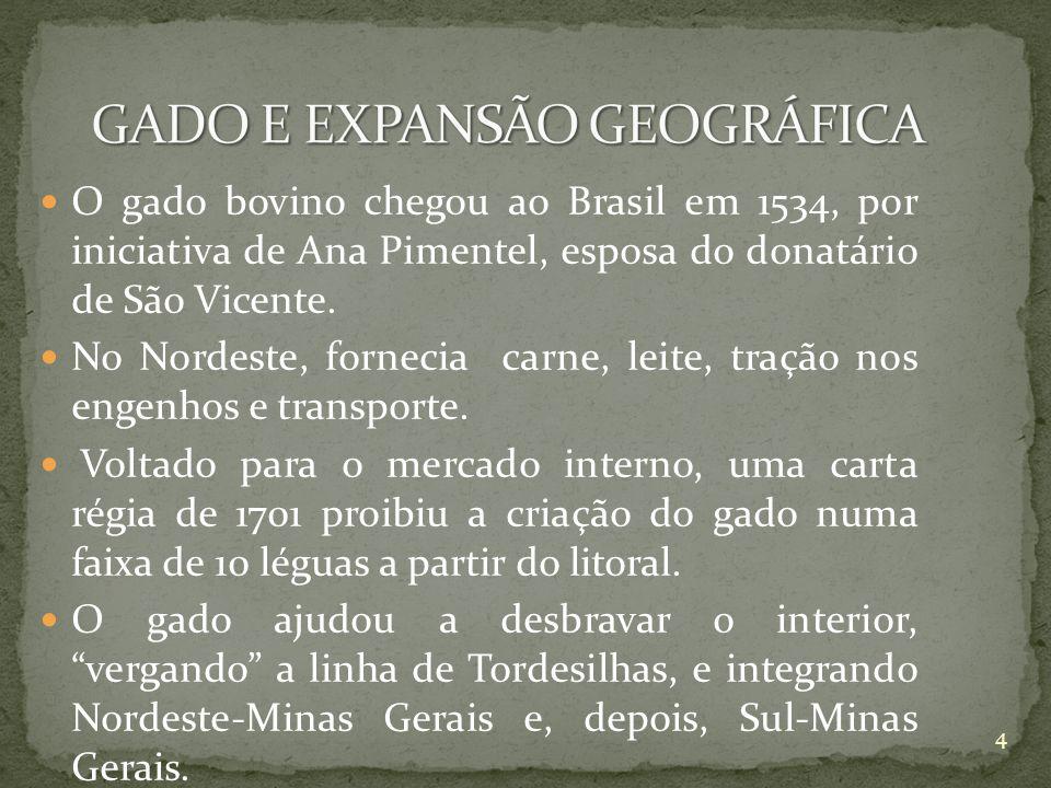 GADO E EXPANSÃO GEOGRÁFICA