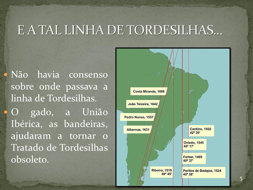 E A TAL LINHA DE TORDESILHAS...