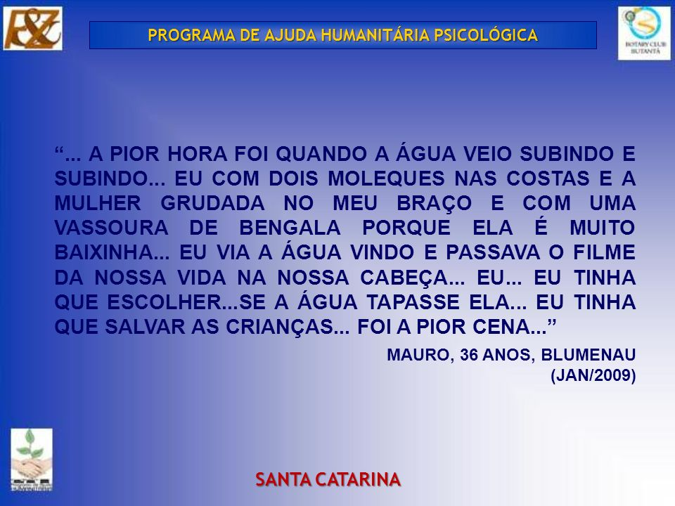 PROGRAMA DE AJUDA HUMANITÁRIA PSICOLÓGICA
