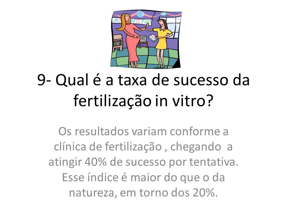 9- Qual é a taxa de sucesso da fertilização in vitro