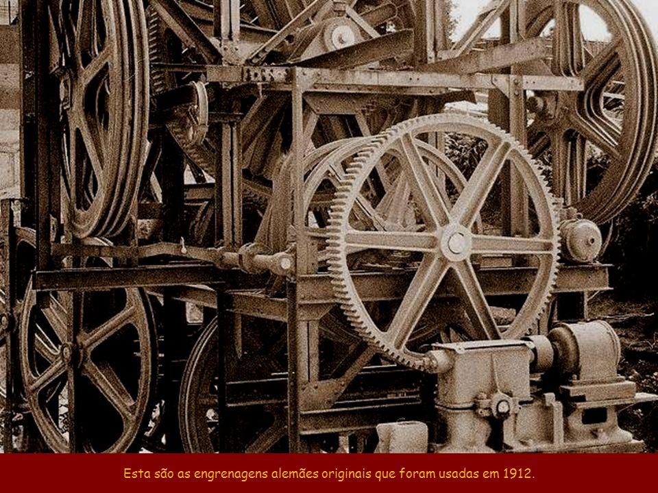 Esta são as engrenagens alemães originais que foram usadas em 1912.