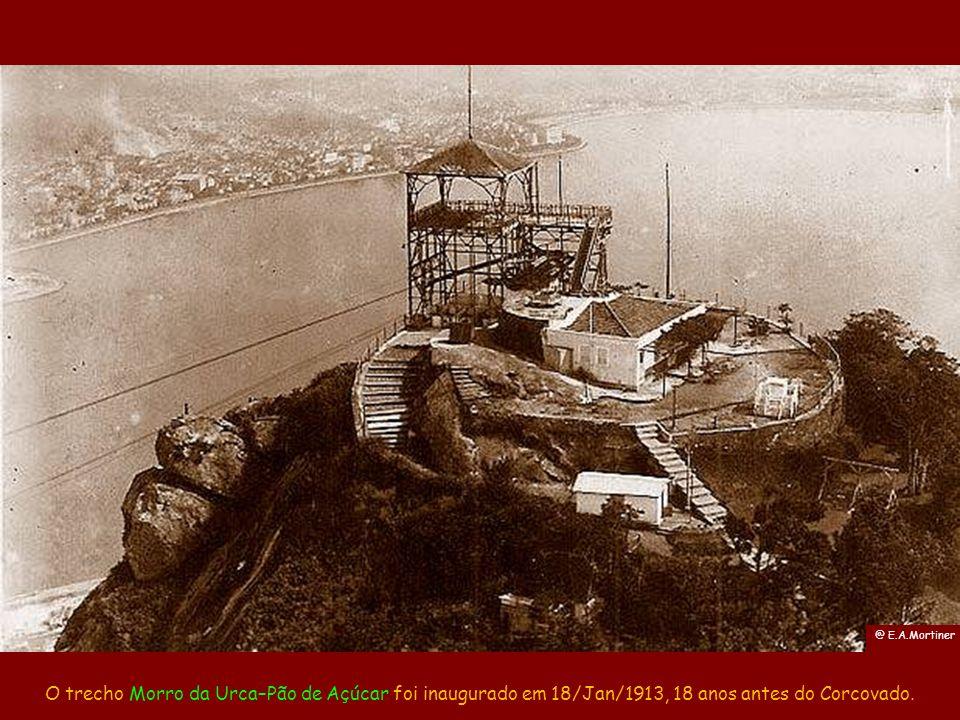 @ E.A.Mortiner O trecho Morro da Urca–Pão de Açúcar foi inaugurado em 18/Jan/1913, 18 anos antes do Corcovado.