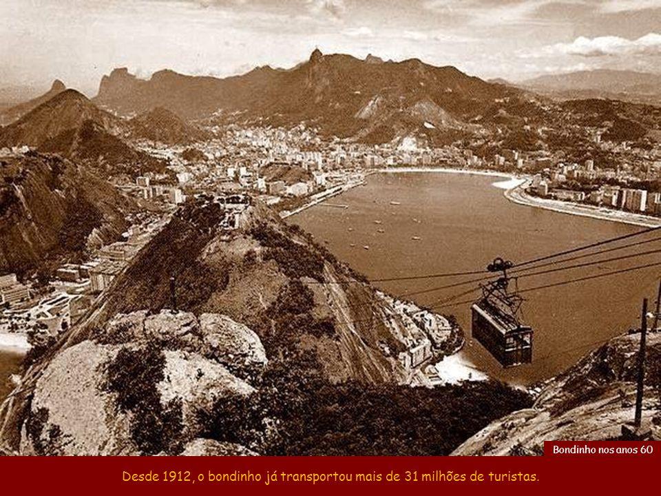 Desde 1912, o bondinho já transportou mais de 31 milhões de turistas.