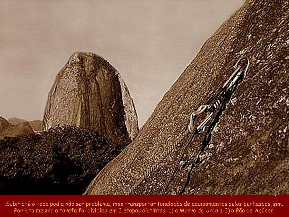 Encosta do Morro da Urca e, ao fundo, o Pão de Açúcar