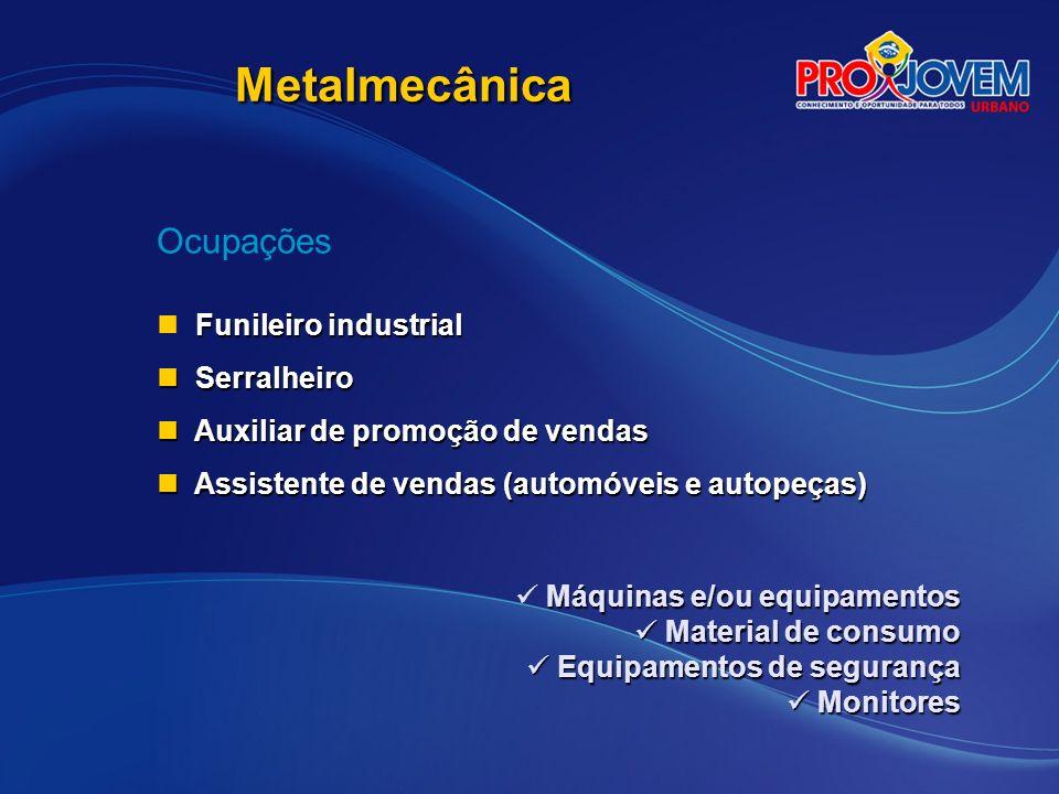 Metalmecânica Ocupações Funileiro industrial Serralheiro