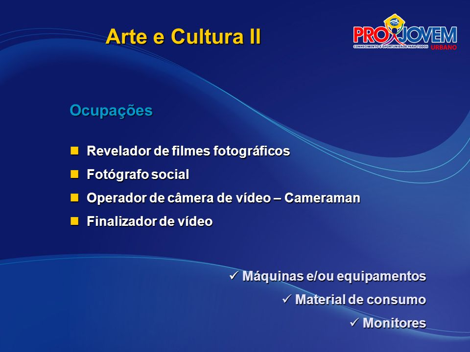 Arte e Cultura II Ocupações Revelador de filmes fotográficos