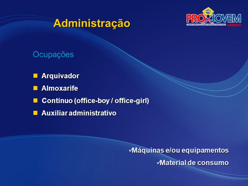 Administração Ocupações Arquivador Almoxarife
