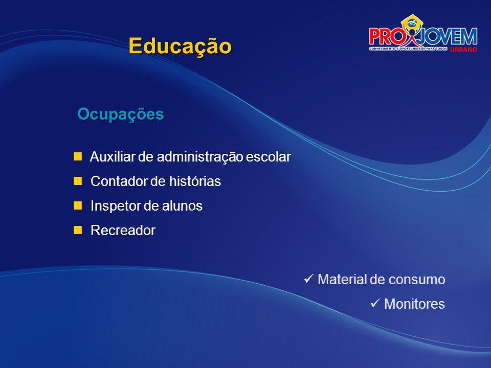 Educação Ocupações Auxiliar de administração escolar