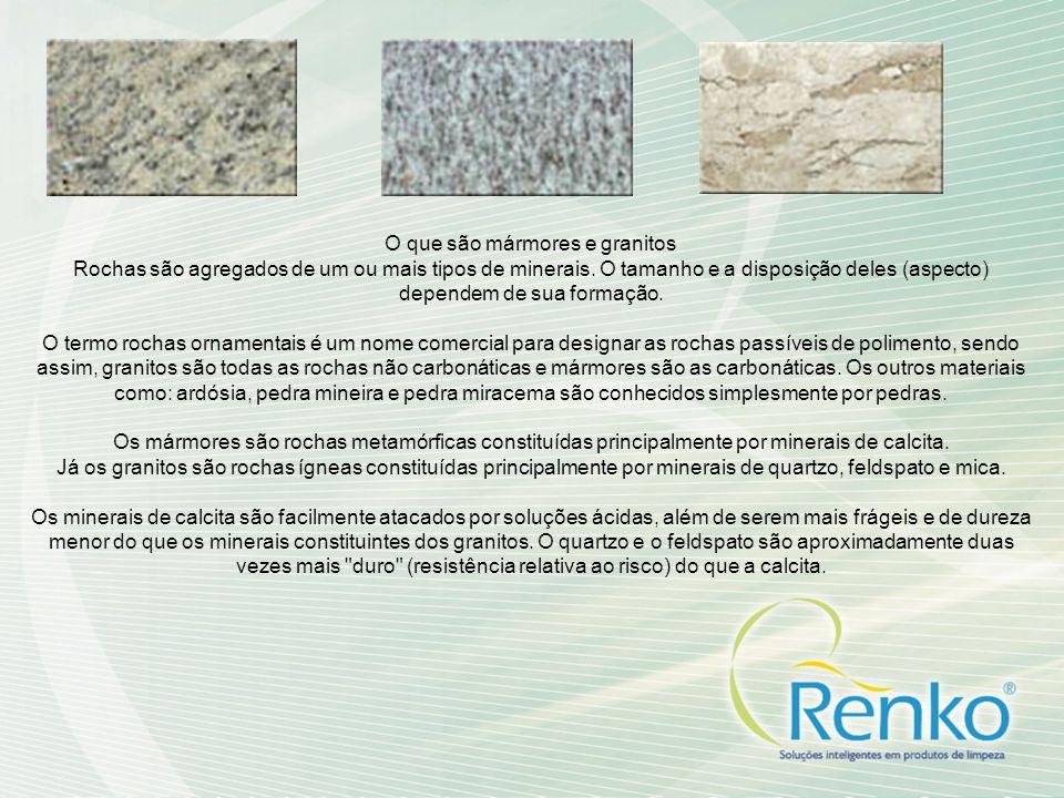 O que são mármores e granitos
