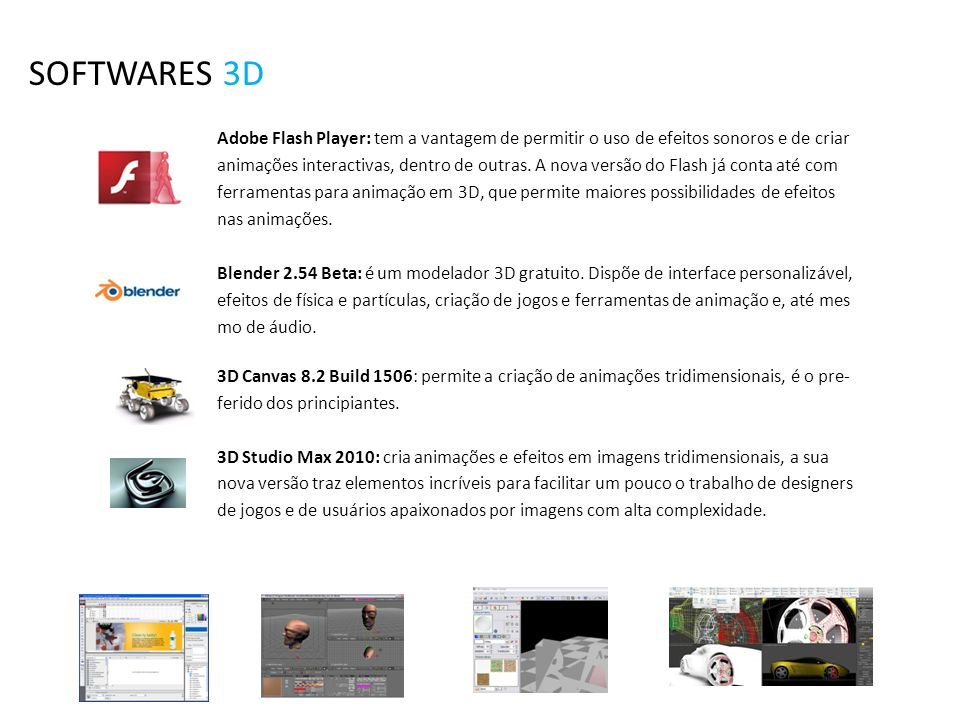 SOFTWARES 3D