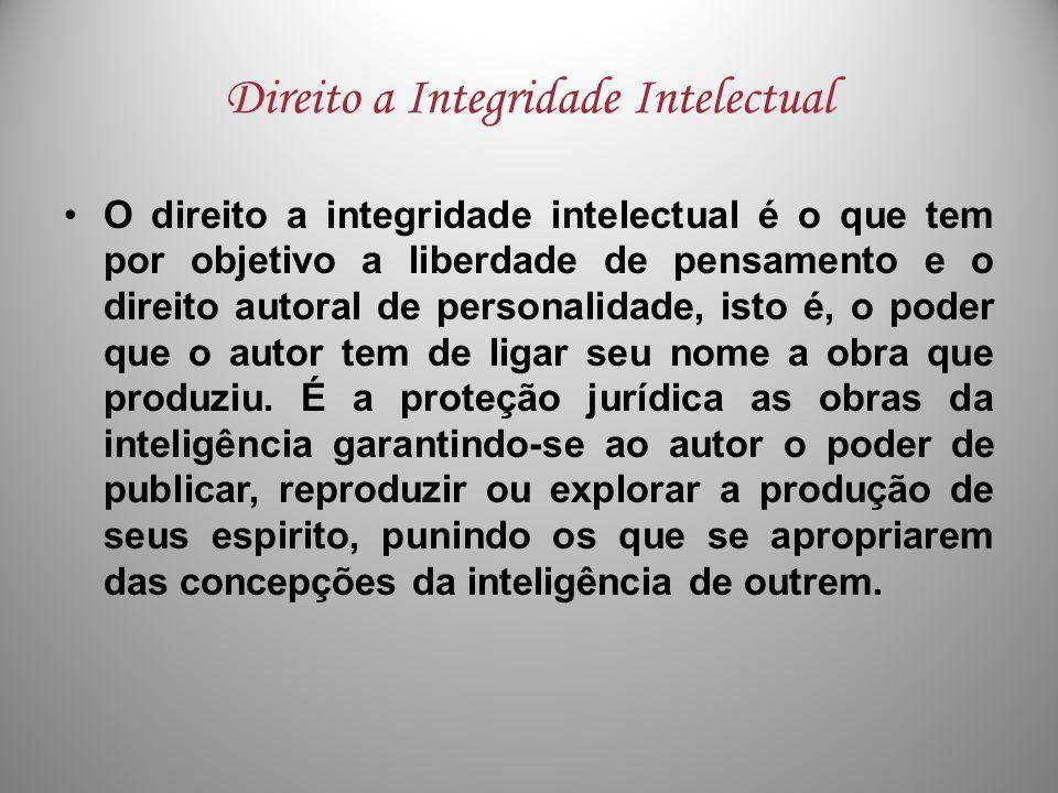 Direito a Integridade Intelectual