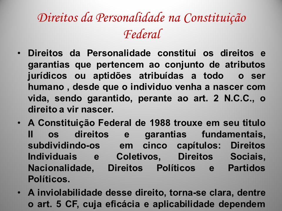 Direitos da Personalidade na Constituição Federal