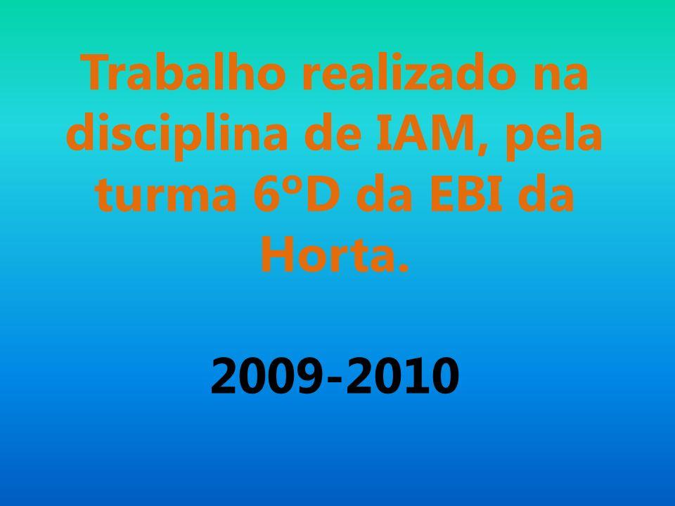Trabalho realizado na disciplina de IAM, pela turma 6ºD da EBI da Horta.