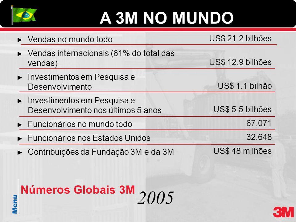 2005 A 3M NO MUNDO Números Globais 3M Vendas no mundo todo