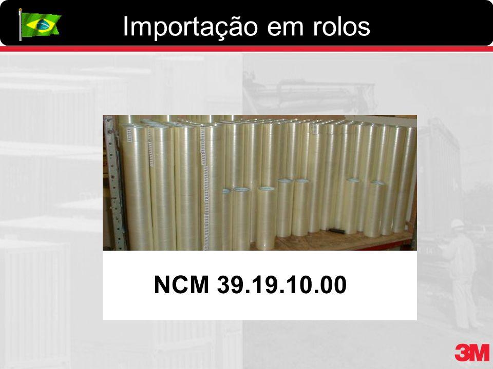 Importação em rolos NCM 39.19.10.00