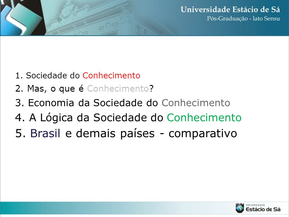 5. Brasil e demais países - comparativo