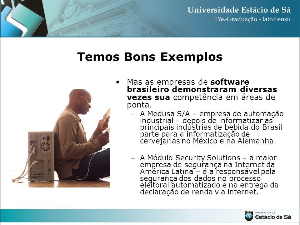 Temos Bons Exemplos Mas as empresas de software brasileiro demonstraram diversas vezes sua competência em áreas de ponta.