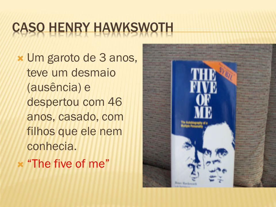 Caso Henry Hawkswoth Um garoto de 3 anos, teve um desmaio (ausência) e despertou com 46 anos, casado, com filhos que ele nem conhecia.