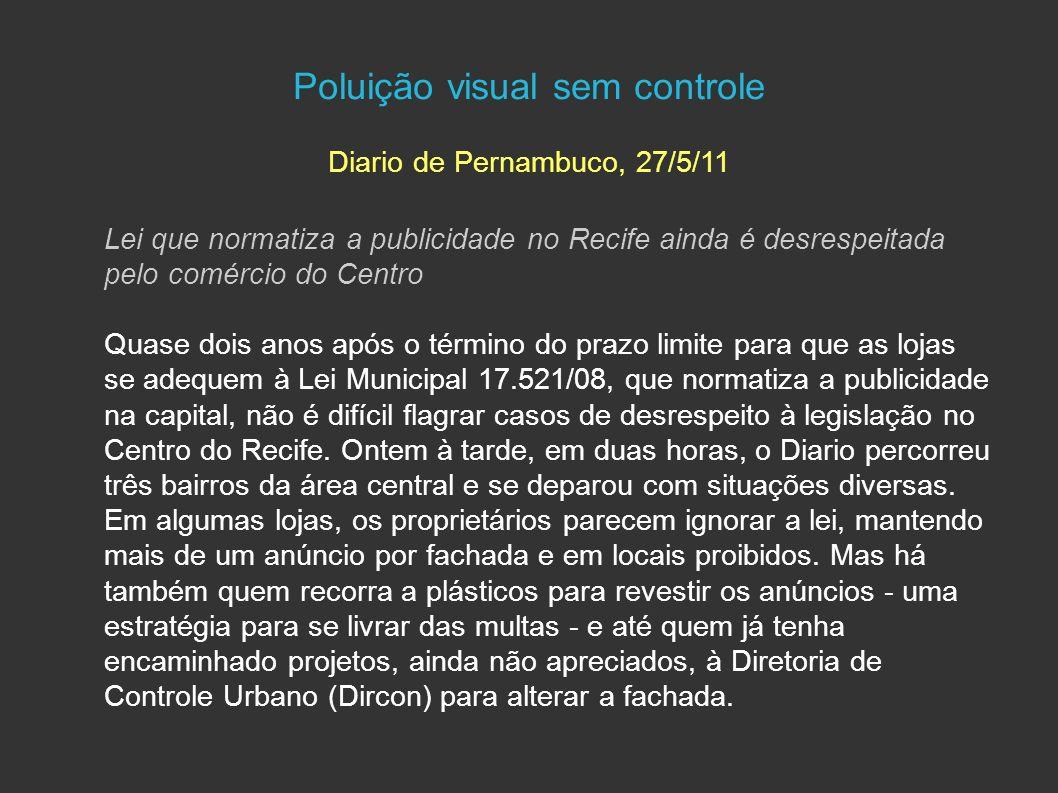 Poluição visual sem controle