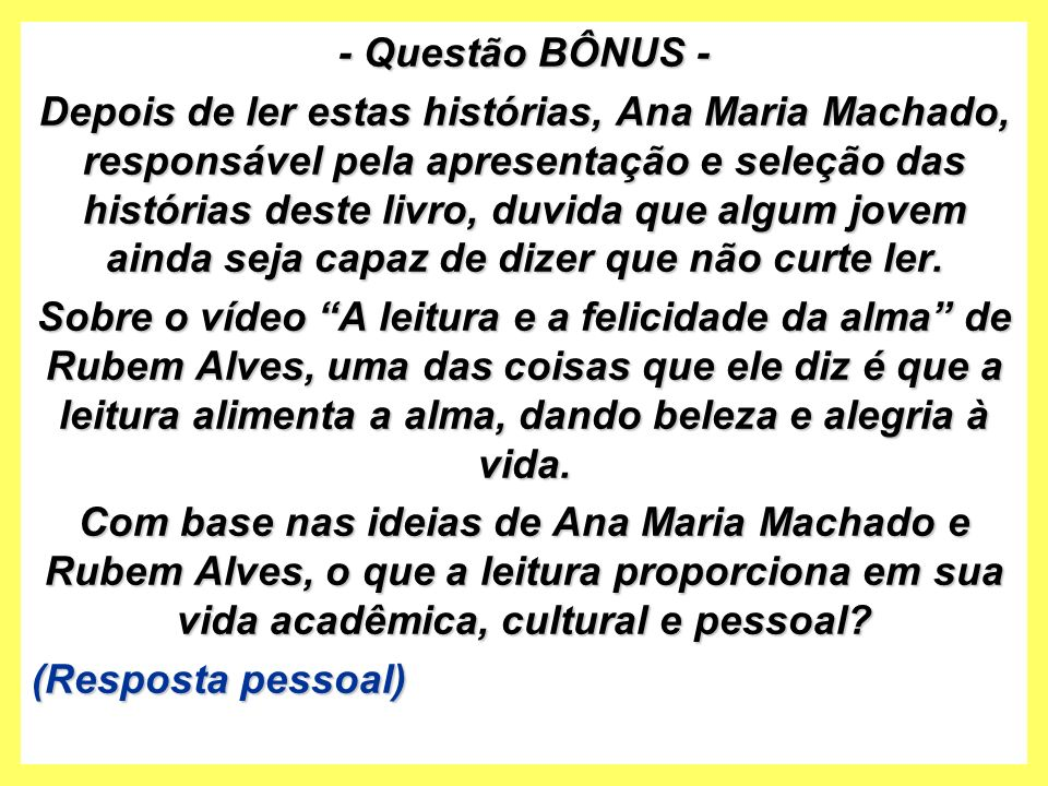 - Questão BÔNUS -