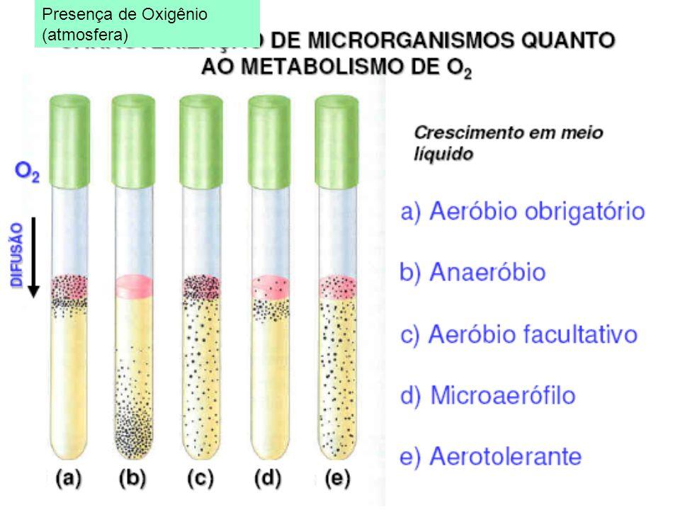 Presença de Oxigênio (atmosfera)