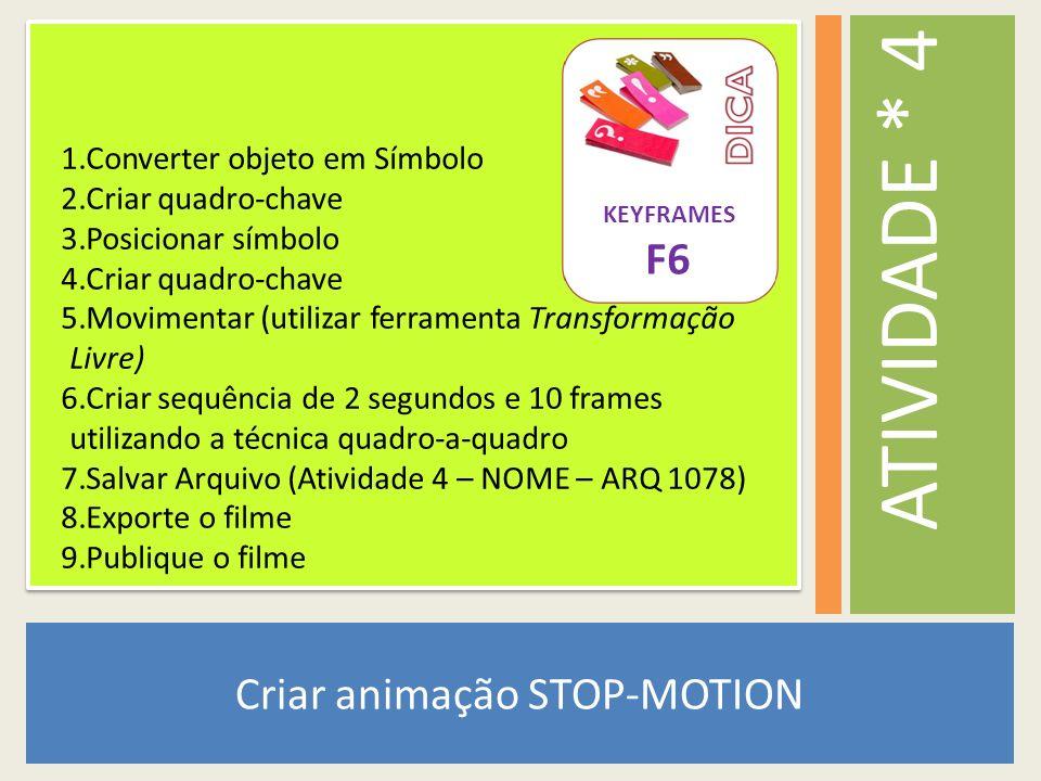 Criar animação STOP-MOTION