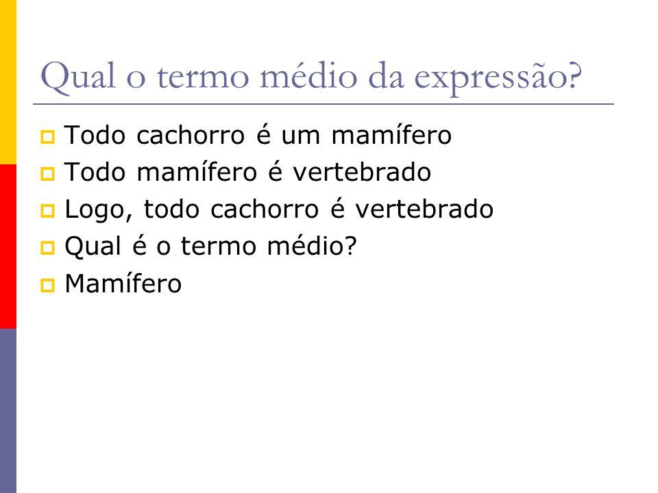 Qual o termo médio da expressão