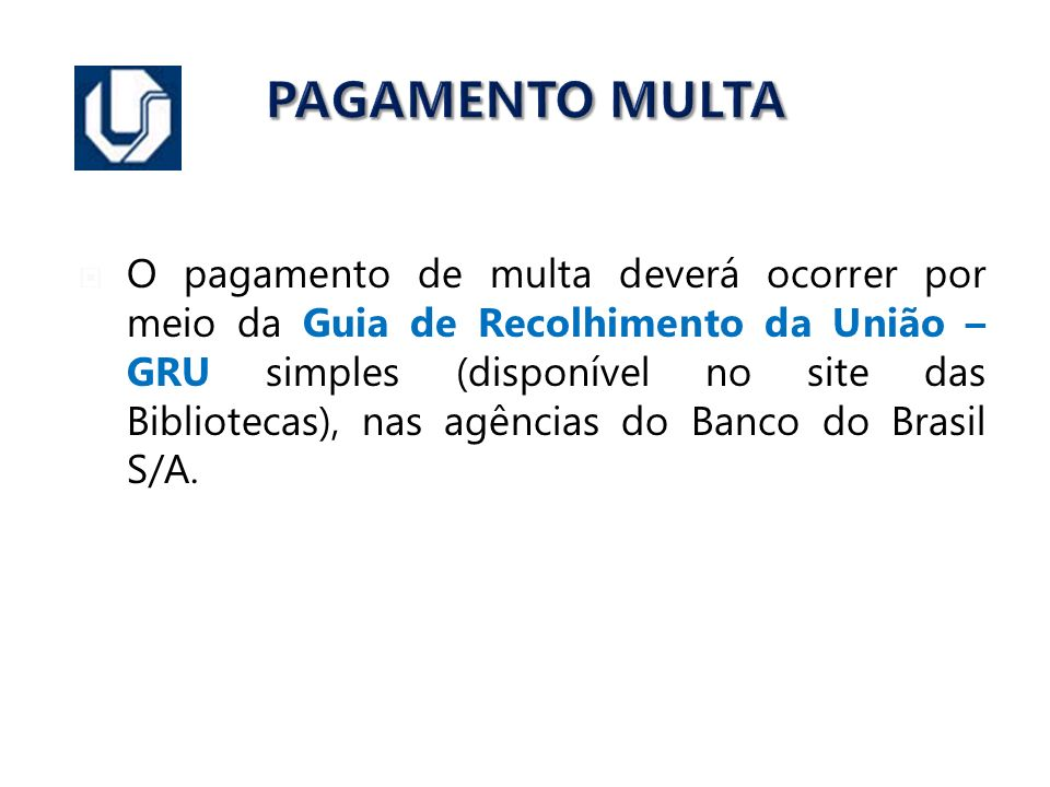PAGAMENTO MULTA