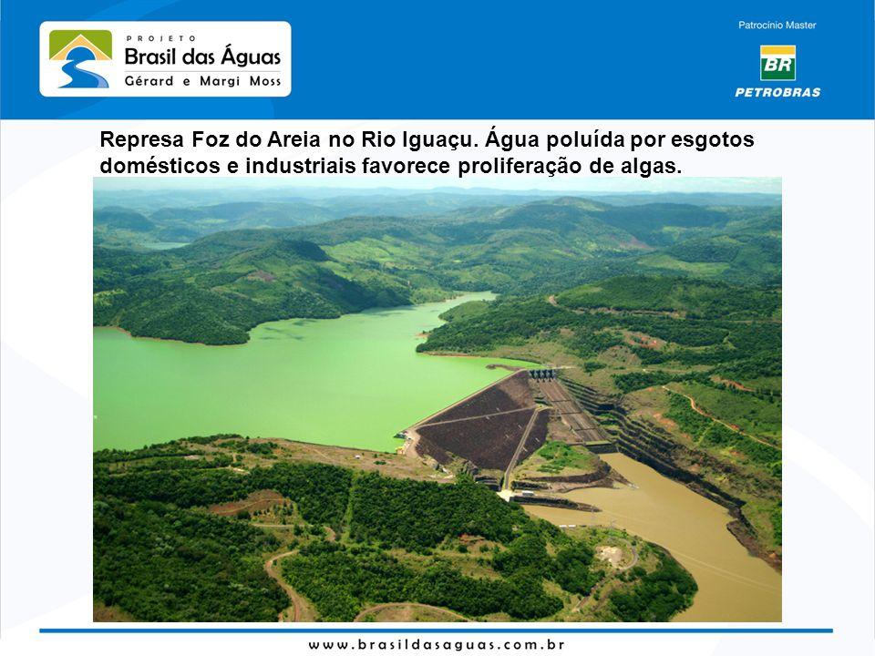 Represa Foz do Areia no Rio Iguaçu