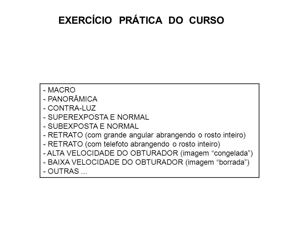 EXERCÍCIO PRÁTICA DO CURSO