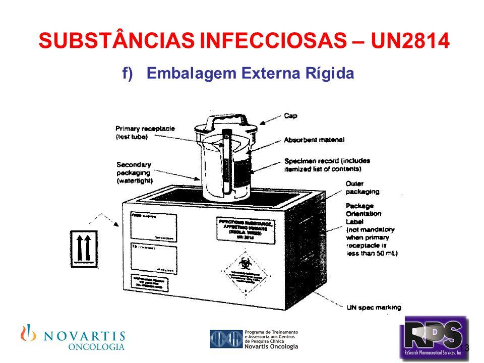 SUBSTÂNCIAS INFECCIOSAS – UN2814