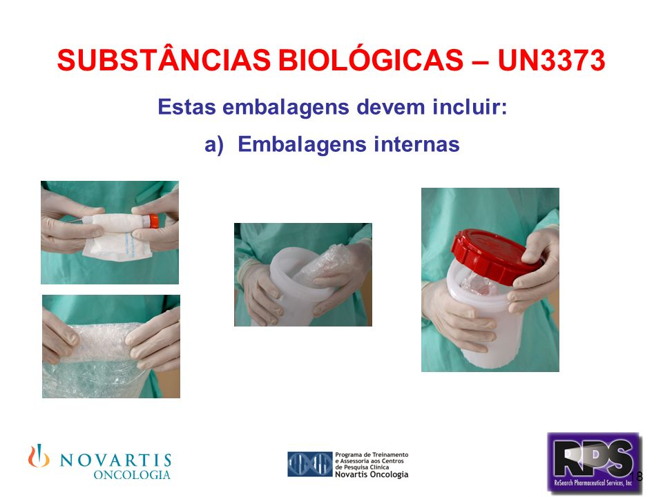 SUBSTÂNCIAS BIOLÓGICAS – UN3373