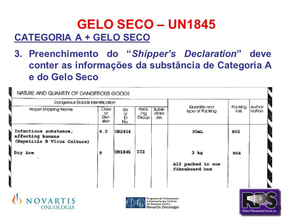 GELO SECO – UN1845 CATEGORIA A + GELO SECO.