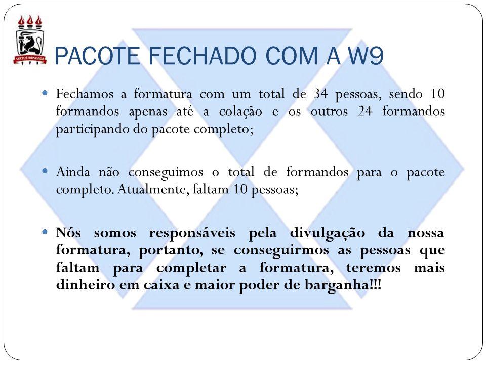 PACOTE FECHADO COM A W9