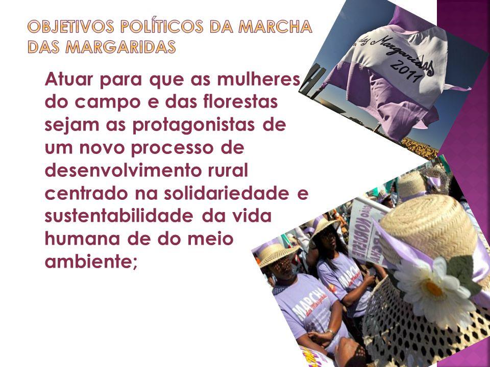 objetivos políticos da marcha das margaridas