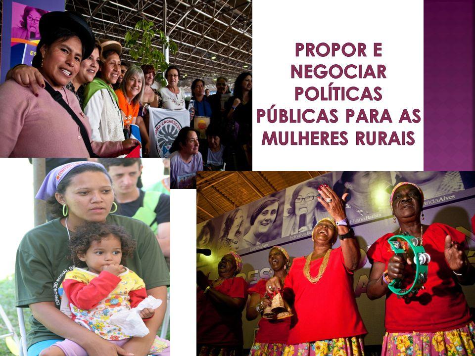 Propor e negociar políticas públicas para as mulheres rurais