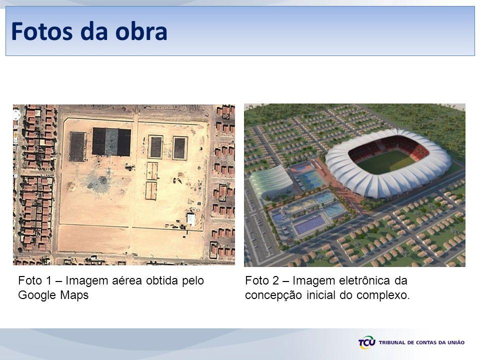Fotos da obra Foto 1 – Imagem aérea obtida pelo Google Maps