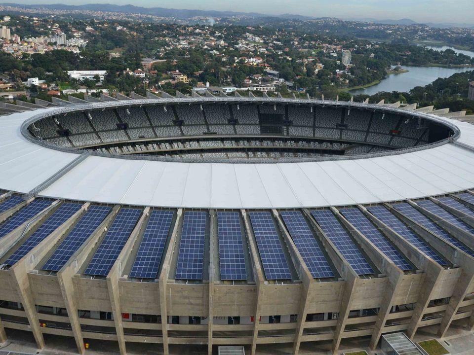 Mineirão é o primeiro estádio da Copa de 2014 a inaugurar usina solar.