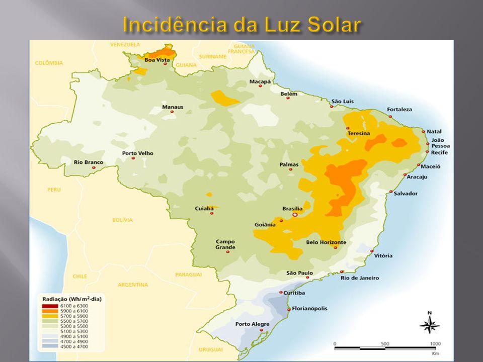 Incidência da Luz Solar
