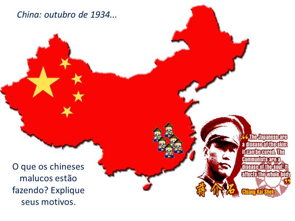 O que os chineses malucos estão fazendo Explique seus motivos.