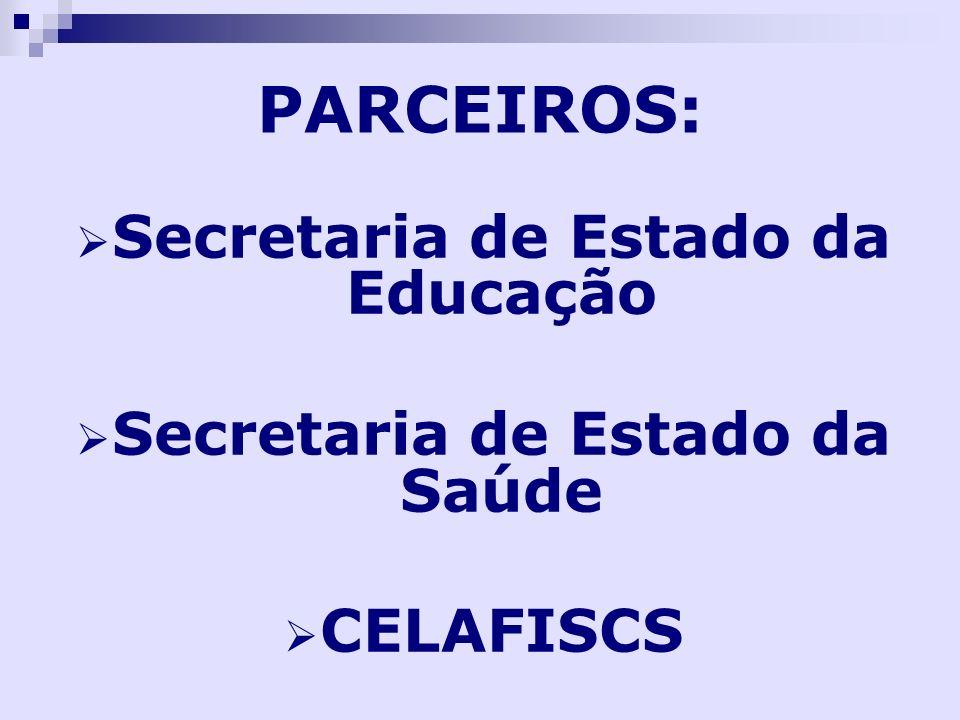 Secretaria de Estado da Educação Secretaria de Estado da Saúde