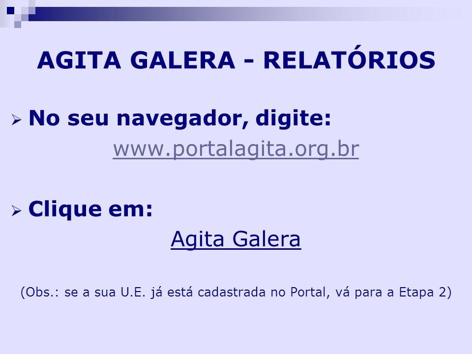 AGITA GALERA - RELATÓRIOS