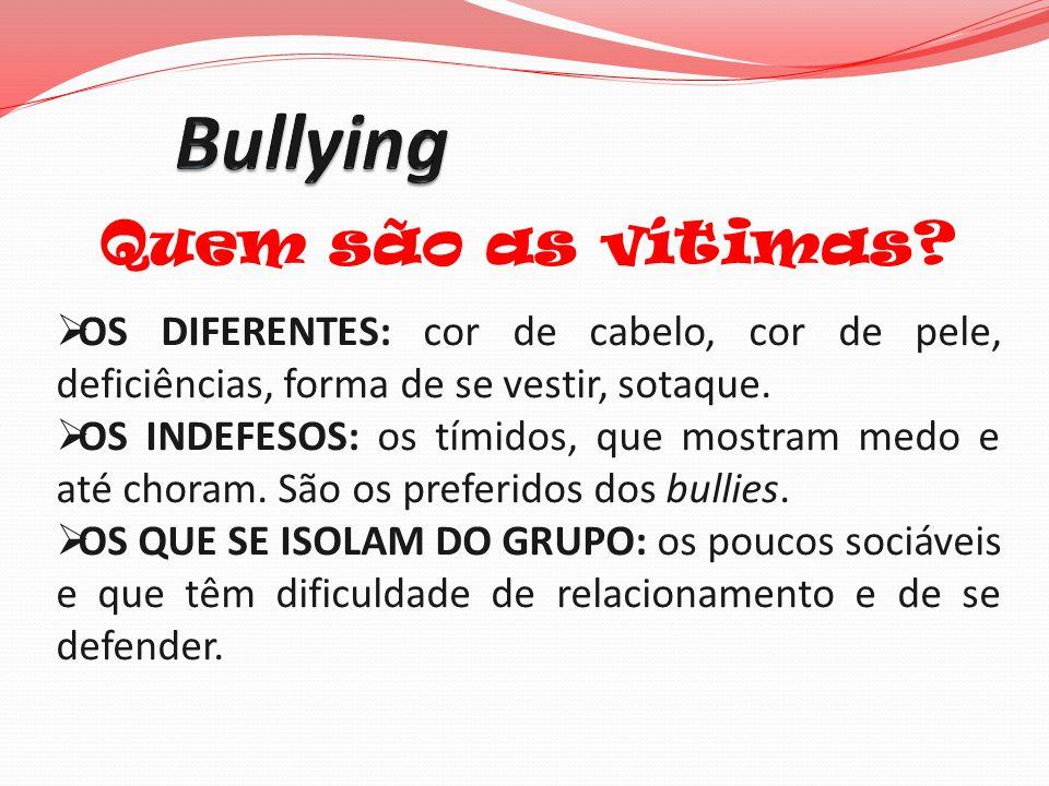 Bullying Quem são as vítimas