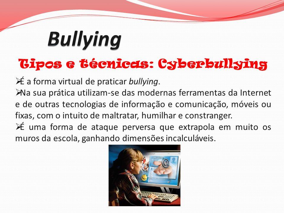 Tipos e técnicas: Cyberbullying