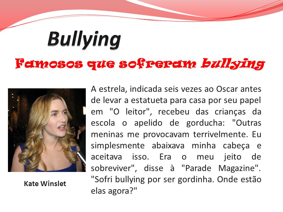 Bullying Famosos que sofreram bullying