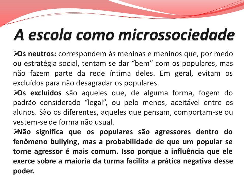 A escola como microssociedade