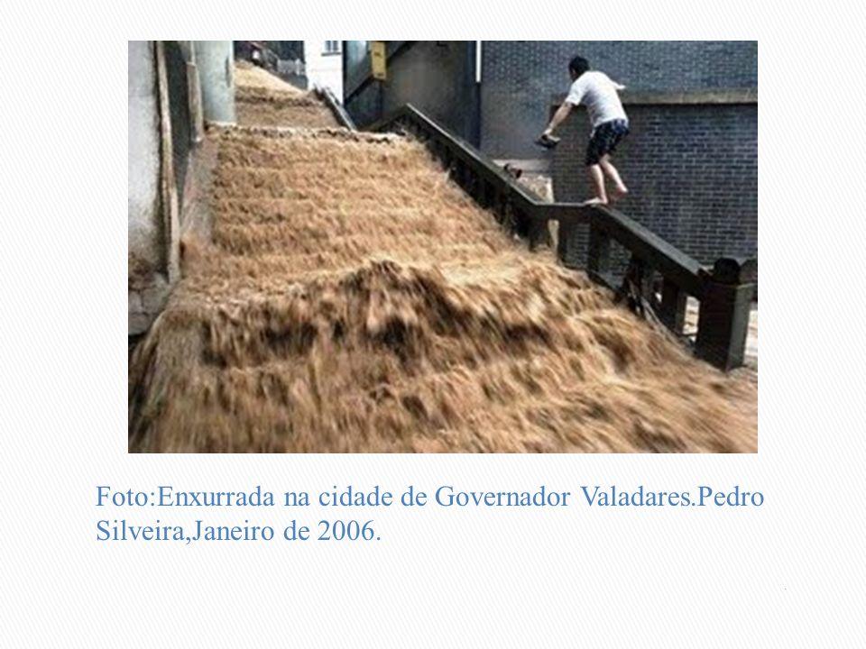 Foto:Enxurrada na cidade de Governador Valadares