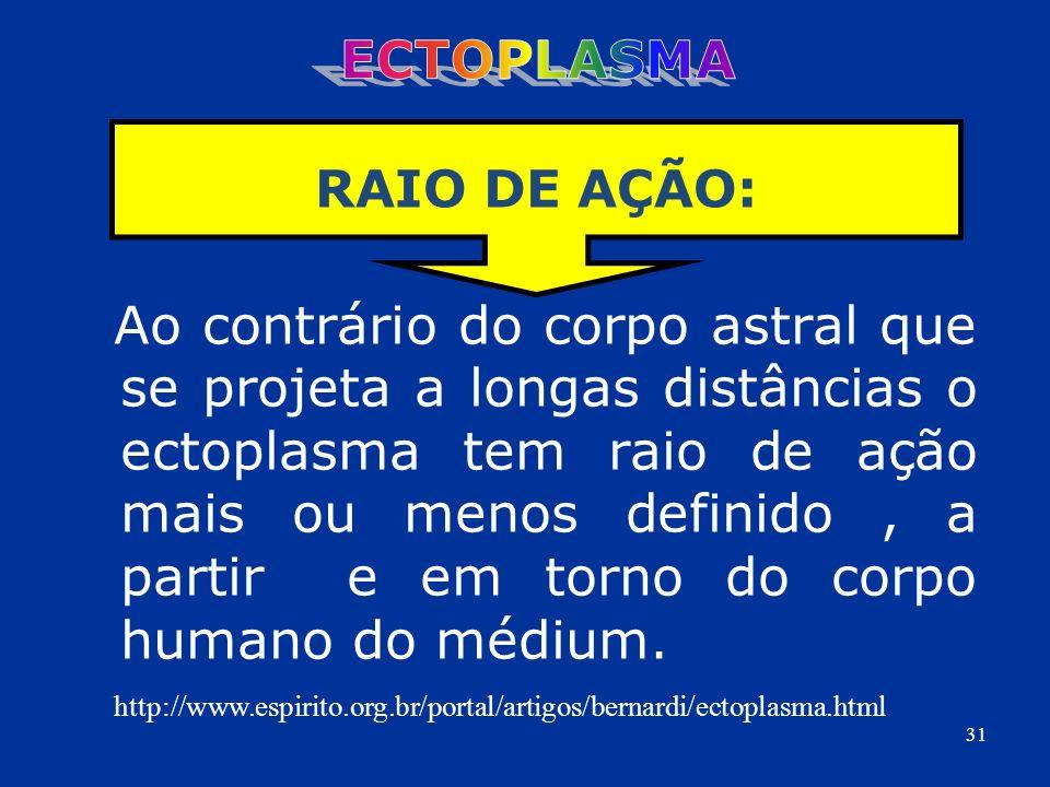 ECTOPLASMA RAIO DE AÇÃO:
