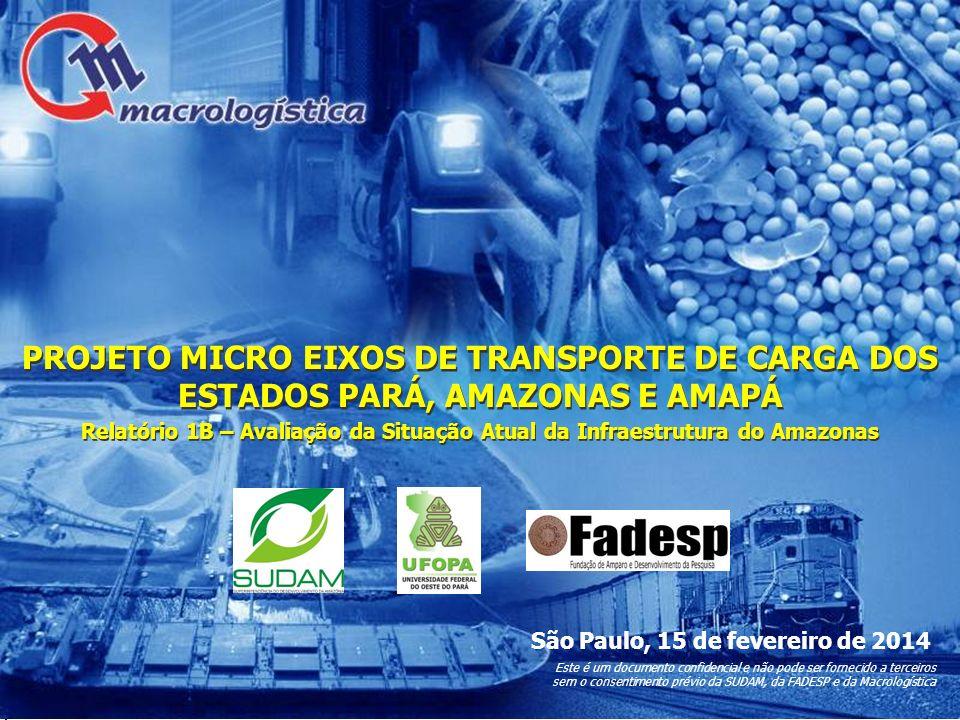 PROJETO MICRO EIXOS DE TRANSPORTE DE CARGA DOS ESTADOS PARÁ, AMAZONAS E AMAPÁ